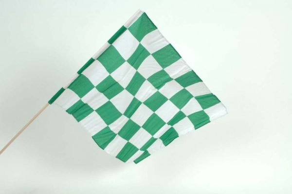 "Small 24""x18"" Chequered Handwaving Flags"