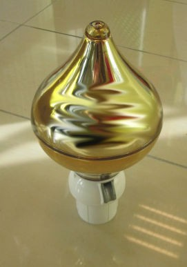 Gold Finial Top - 65mm diameter pole