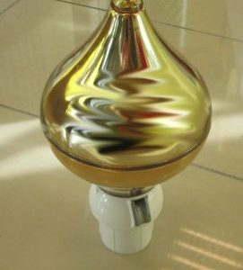 Gold Finial Top - 60mm diameter pole