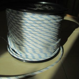 White Nylon Flagpole Rope 8.0mm